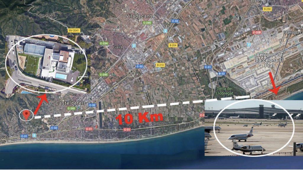 La casa di Messi limita il traffico aereo dell'aeroporto di Barcellona
