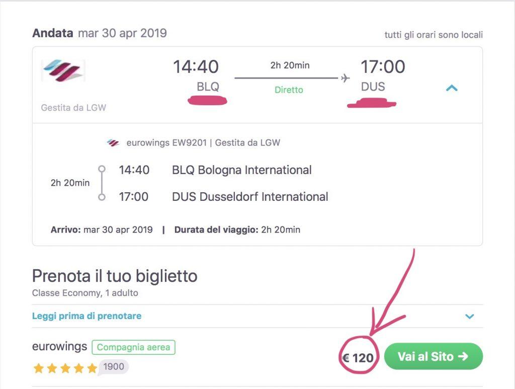 volo economico Bologna-Dusseldorf