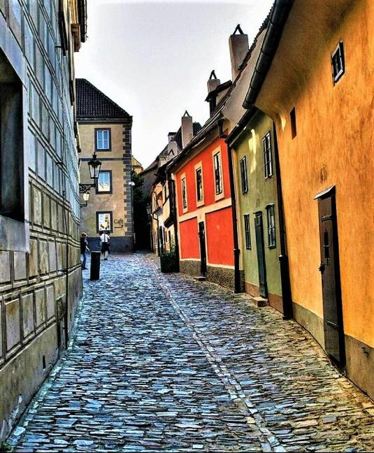 Scorcio del Vicolo d'Oro di Praga