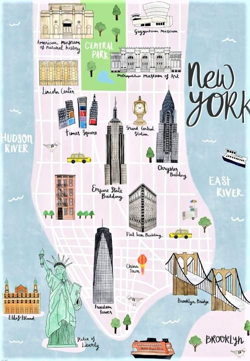 mappa di Lower Manhattan