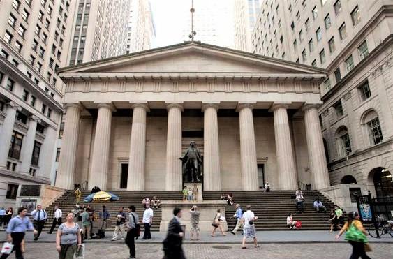 federall hall con porticato con colonne