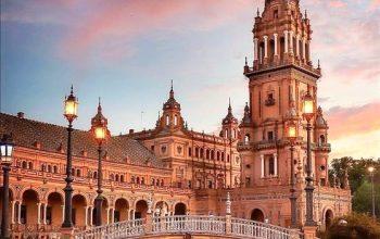 vista della cattedrale di Siviglia