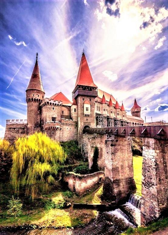 vista del castello di dracula