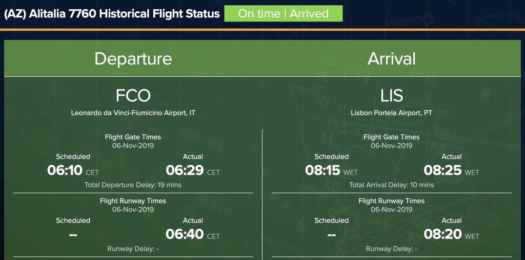il volo è in ritardo