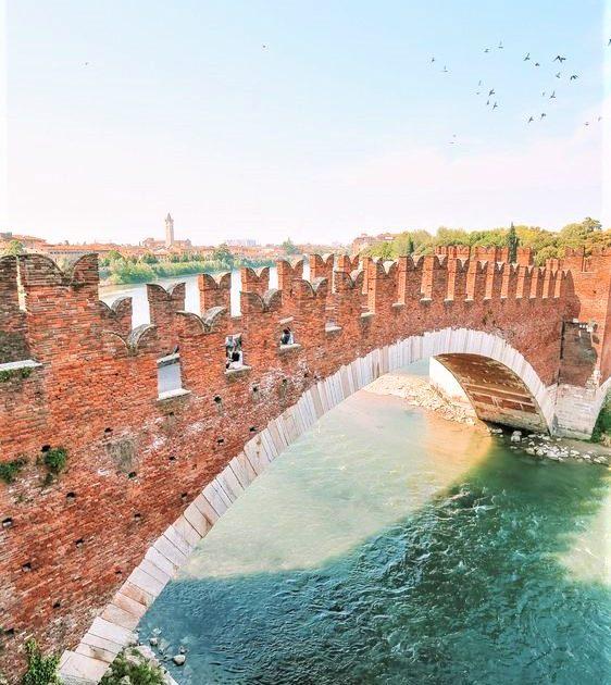 ponte in pietra a Verona